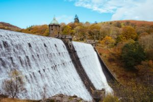 Pen y Garreg Dam, next to Penbont House