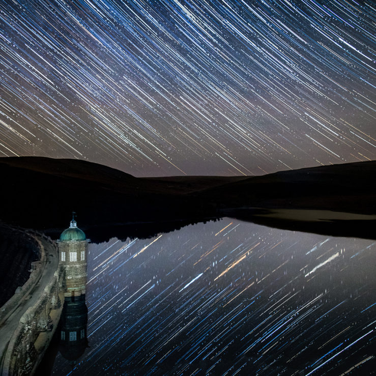 Star Trails at Craig Goch Dam By Sean Weekly