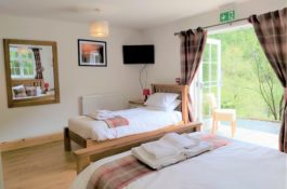 Garreg Ddu, Spacious king and single, easy access, dog friendly